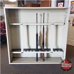 Gun Rack - Locking Vertical - Holds 15 Long Guns (48 H x 50 W x 12 D) (No Guns included)