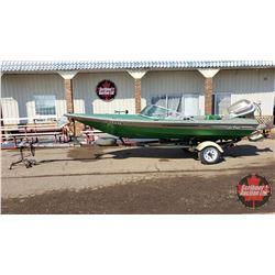 BOAT: 1977 Checkmate 15-1/2ft w/85HP Evinrude Outboard & 1978 Boat Trailer