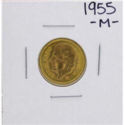 1955 Cinco Pesos Gold Coin