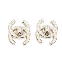 Chanel CC Turn Lock Clip-On Earrings