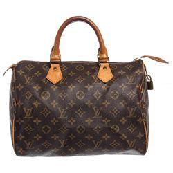 Louis Vuitton Monogram Canvas Leather Speedy 30 cm Bag