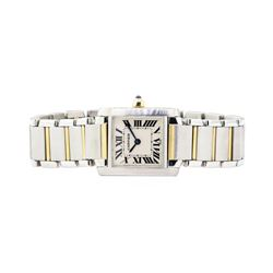 Cartier Tank Francaise Lady's Wrist Watch - Stainless Steel and 18KT Yellow Gold