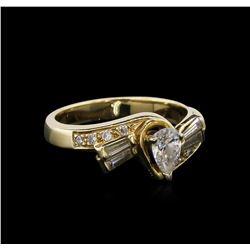 0.65 ctw Diamond Ring - 14KT Yellow Gold