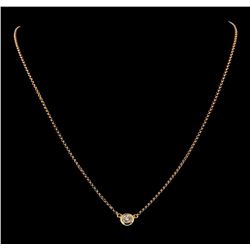0.39 ctw Diamond Necklace - 18KT Rose Gold
