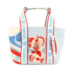Chanel Surf Sports Blue Canvas Tote