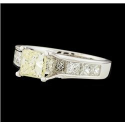 2.20 ctw Diamond Ring - 18KT White Gold