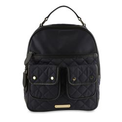 Burberry Double Pocket Quilted Blue Nylon Backpack