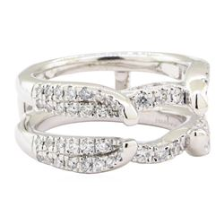 0.70 ctw Diamond Ring Guard - 14KT White Gold