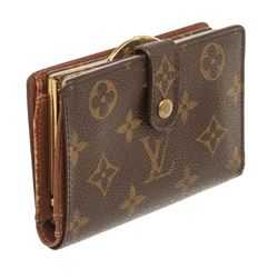Louis Vuitton Monogram Canvas Leather French Purse Wallet