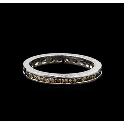 0.59 ctw Brown Diamond Ring - 14KT White Gold