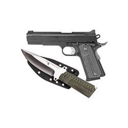 """DE 1911 45ACP 5"""" BLK FS W/KNIFE"""