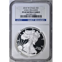 2010-W ASE NGC PF-69 ULTRA CAMEO EARLY RELEASE