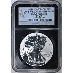 2013-W REVERSE PROOF ASE NGC PF-70 EARLY RELEASE