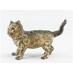 1920 Austrian Bronze Cat Inkwell Franz Bergman