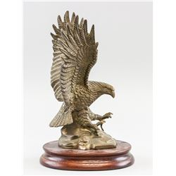 American Metal Eagle Statue w/ Stand