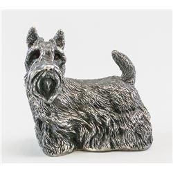 Italian Sterling Silver Dog Statue