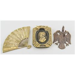 3 Assorted European Metal Hanging Decorations