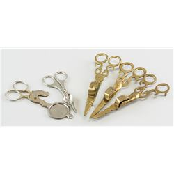 5 Assorted Metal Wick Trimmers