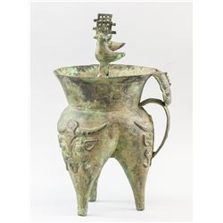 Chinese Archaistic Bronze He Vessel