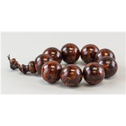 Chinese Huanghuali Wood Round Bead Bracelet