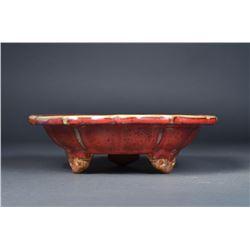 Chinese Junyao 6 Bracket Narcissus Bowl