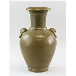 Chinese Tea Dust Porcelain Vase Yongzheng MK