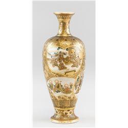Japanese Meiji Hattori Gold Vase Shimazu Crest