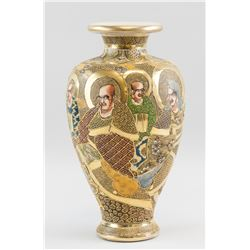 Japanese Meiji Porcelain Gilt Porcelain Vase Maker