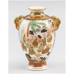 Japanese Meiji Satsuma Yaki Yasui Vase Mark