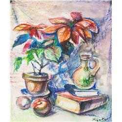 Gabriele Munter German Modernist Pastel on Paper