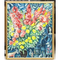 Marc Chagall French Surrealist Oil on Canvas