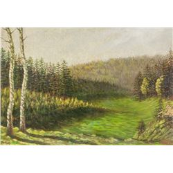 Kemnitz Oil on Board Landscape 14.IV.198