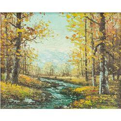 Kim Suk Hwan Korean-Canadian Oil/Canvas Landscape