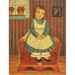 Jane Eckelberry American Folk Gouache on Board
