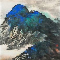 Zhang Daqian 1899-1983 Chinese Watercolor Roll