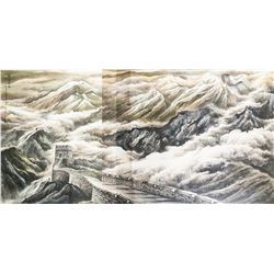 Wei Zixi 1915-2002 Chinese Watercolor Dated 1983