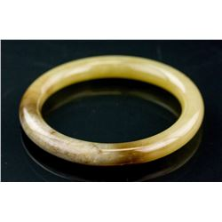 Chinese Hetian Jade Carved Bangle