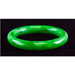 Rounded Burma Green Jadeite Bangle