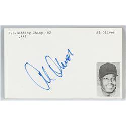 Al Oliver Autographed Cut Card with COA