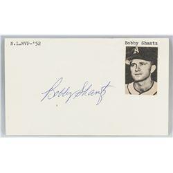 Bobby Shantz Autographed Cut Card with COA