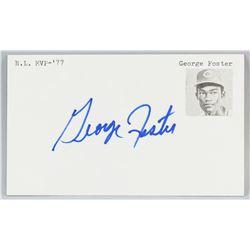 George Foster Autographed Cut Card COA