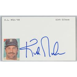Kirk Gibson Autographed Cut Card with COA