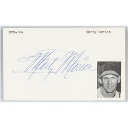 Marty Marion Autographed Cut Card with COA