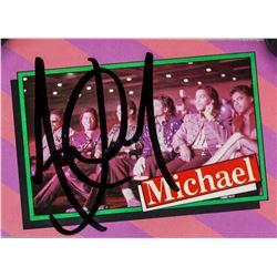 Michael Jackson Autographed Card JSA Letter