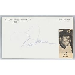 Rod Carew Autographed Cut Card with COA