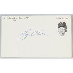 Tony Oliva Autographed Cut Card with COA