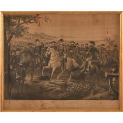 """Lee And His Generals"" 1867 Civil War Lithograph"
