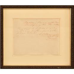 General Beauregard Letter A.J. Toutant Texas 1864