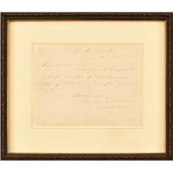 Confederate General Beauregard Letter 1865