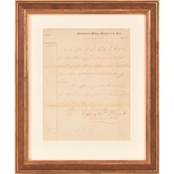 Confederate General Beauregard Aid-de-Campe Letter